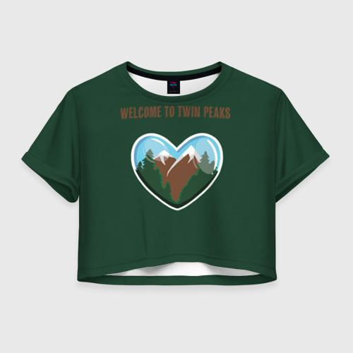 Женская футболка Crop-top 3D Добро пожаловать в Твин Пикс