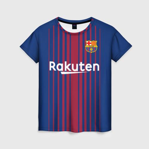 Женская футболка 3D Фк Барселона