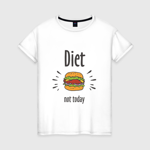 Женская футболка хлопок Diet. Not Today