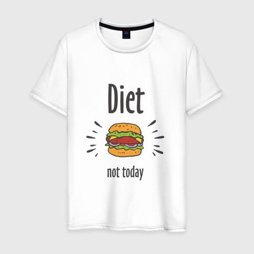 Мужская футболка хлопок Diet. Not Today