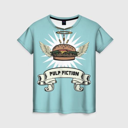 Женская футболка 3D Четвертьфунтовый чизбургер