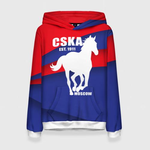 Женская толстовка 3D CSKA est. 1911