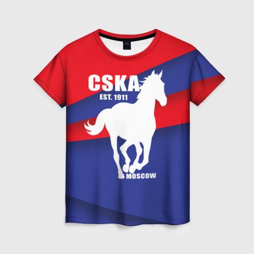 Женская футболка 3D CSKA est. 1911