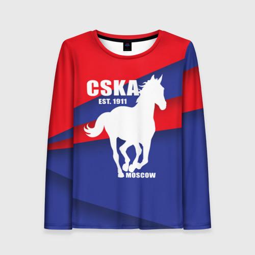 Женский лонгслив 3D CSKA est. 1911