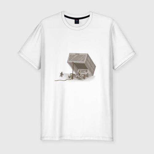 Мужская футболка хлопок Slim Офисное рабство