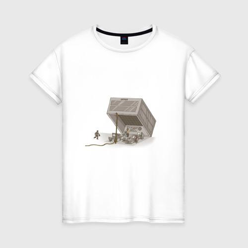 Женская футболка хлопок Офисное рабство