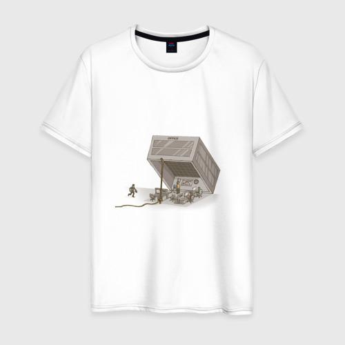 Мужская футболка хлопок Офисное рабство