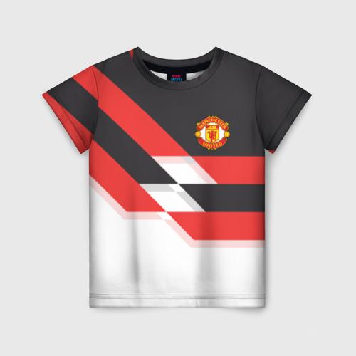 Детская футболка 3D Manchester United - Stripe