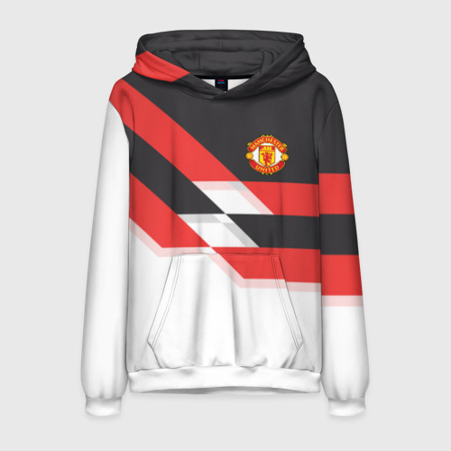 Мужская толстовка 3D Manchester United - Stripe