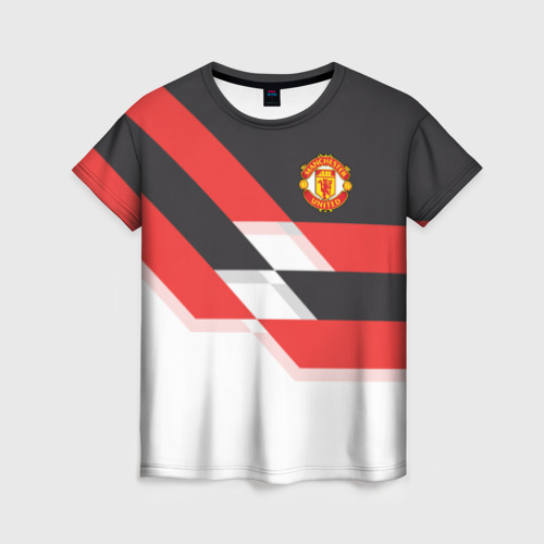 Женская футболка 3D Manchester United - Stripe
