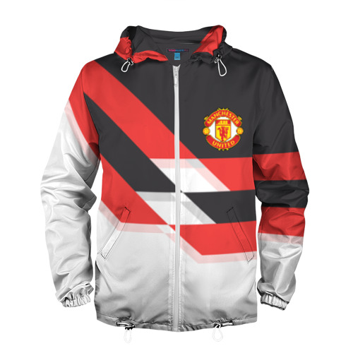 Мужская ветровка 3D Manchester United - Stripe