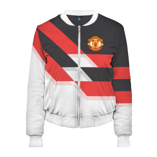 Женский бомбер 3D Manchester United - Stripe