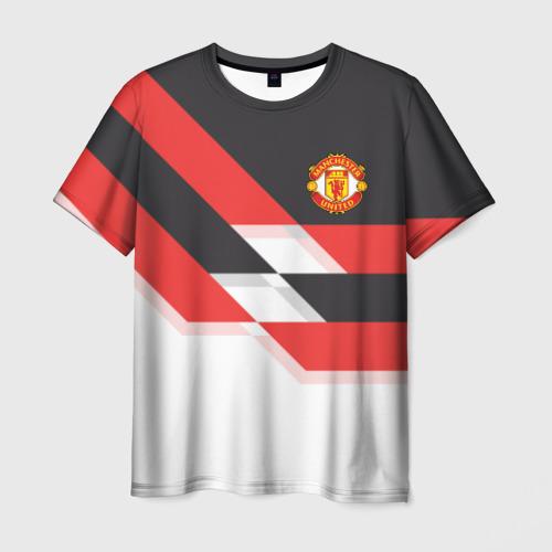 Мужская футболка 3D Manchester United - Stripe