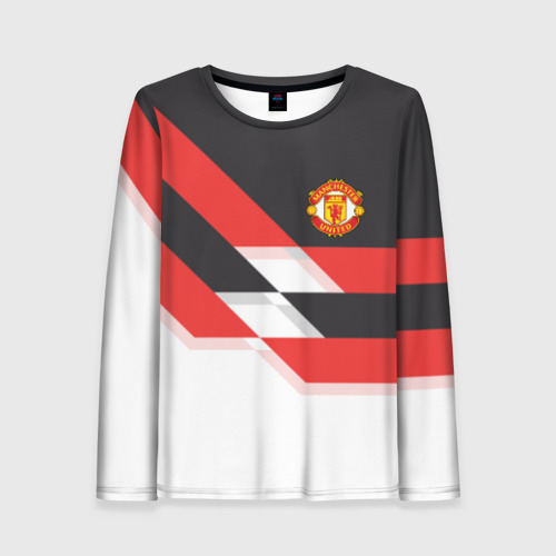 Женский лонгслив 3D Manchester United - Stripe