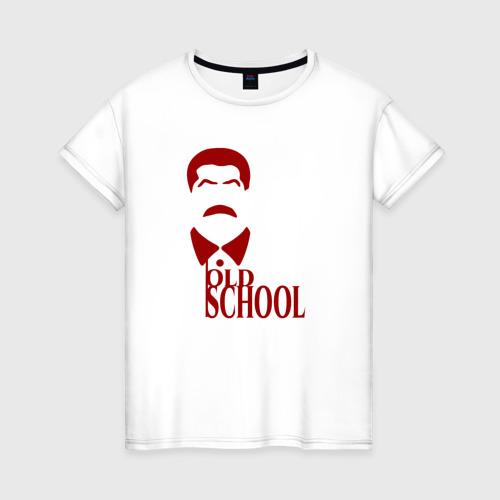 Женская футболка хлопок Сталин старая школа