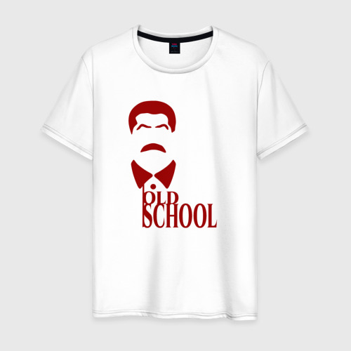 Мужская футболка хлопок Сталин старая школа