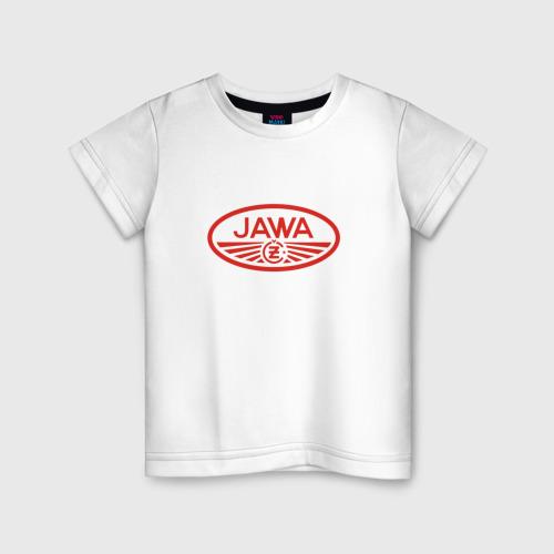 Детская футболка хлопок Мотоцикл Jawa логотип
