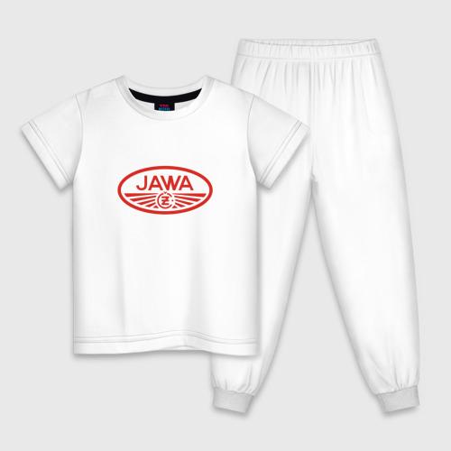 Детская пижама хлопок Мотоцикл Jawa логотип