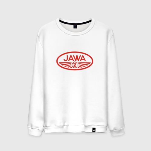 Мужской свитшот хлопок Мотоцикл Jawa логотип
