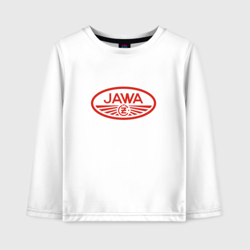 Детский лонгслив хлопок Мотоцикл Jawa логотип