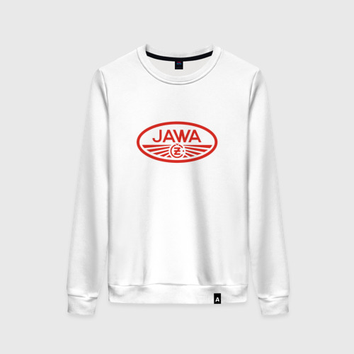 Женский свитшот хлопок Мотоцикл Jawa логотип