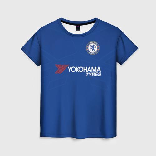 Женская футболка 3D Челси 2018