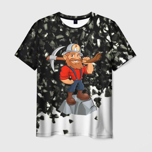 Мужская футболка 3D Шахтёр