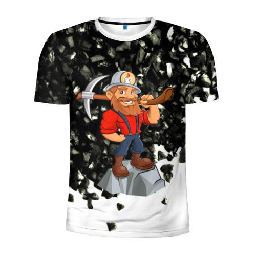 Мужская футболка 3D спортивная Шахтёр