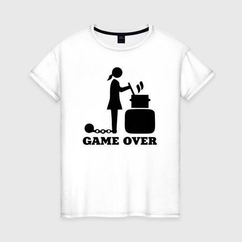Женская футболка хлопок Game over