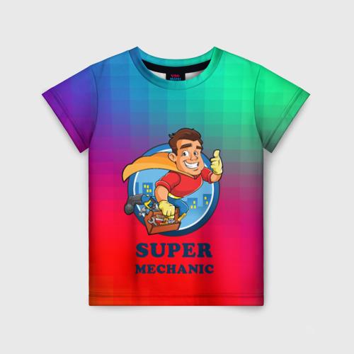 Детская футболка 3D Super Mechanic