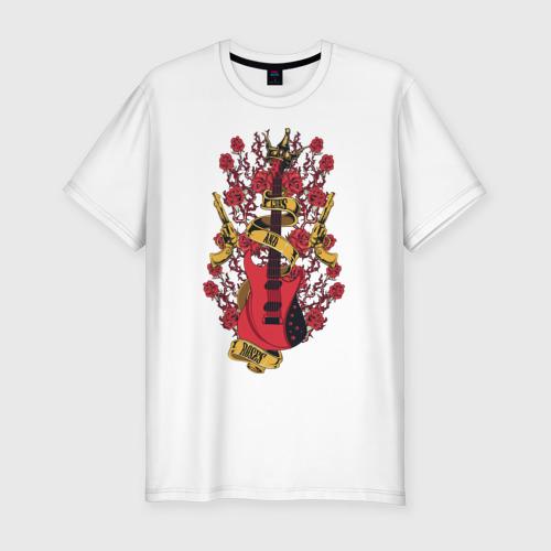 Мужская футболка хлопок Slim Guns'n'Roses