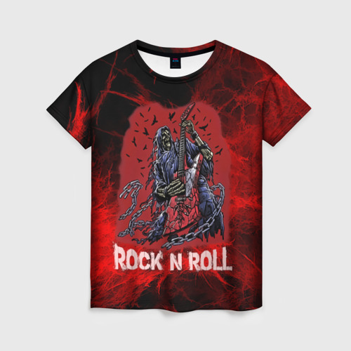 Женская футболка 3D Мертвый гитарист