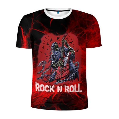 Мужская футболка 3D спортивная Мертвый гитарист