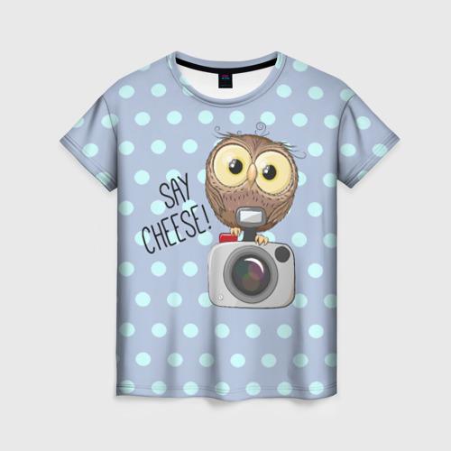 Женская футболка 3D Say CHEESE!