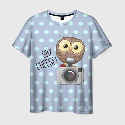 Мужская футболка 3D Say CHEESE!