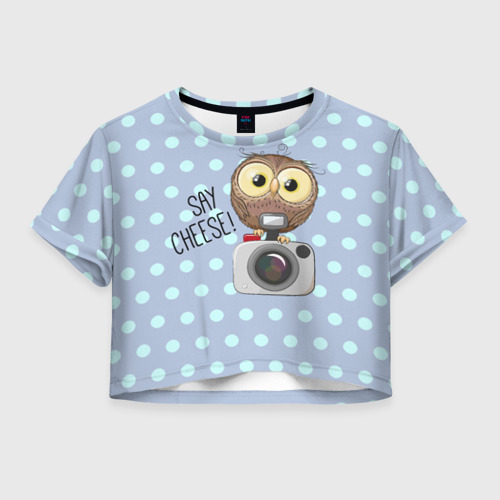Женская футболка Crop-top 3D Say CHEESE!