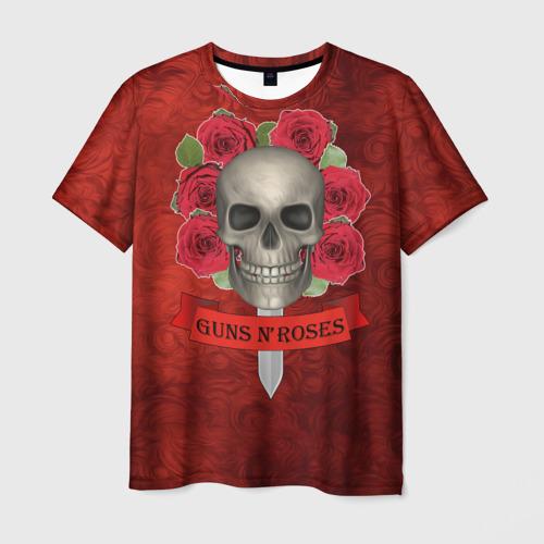 Мужская футболка 3D Gans N Roses