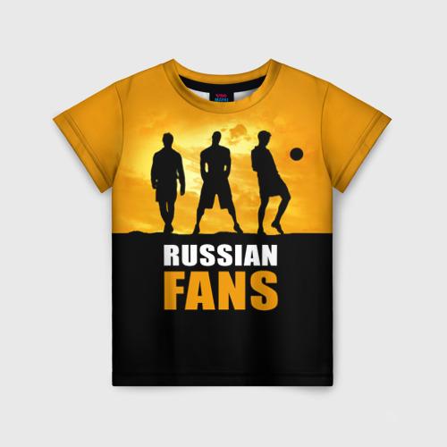 Детская футболка 3D Русские фанаты