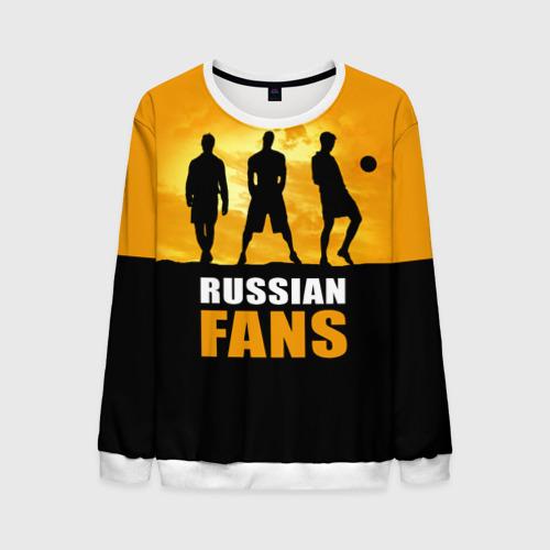 Мужской свитшот 3D Русские фанаты