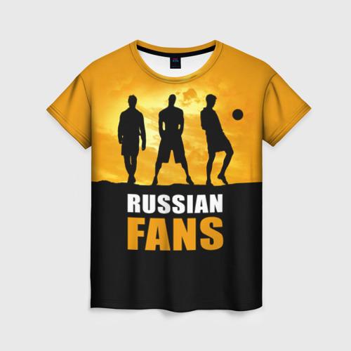 Женская футболка 3D Русские фанаты