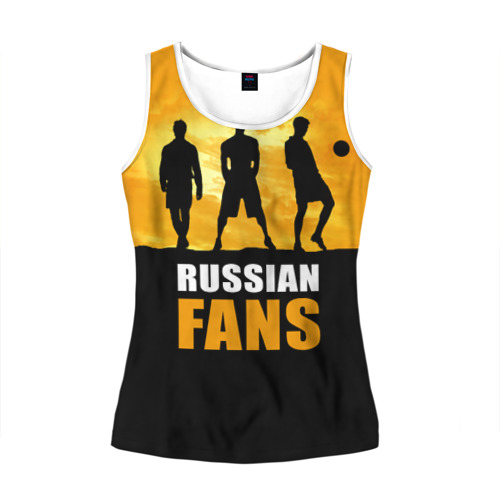 Женская майка 3D Русские фанаты