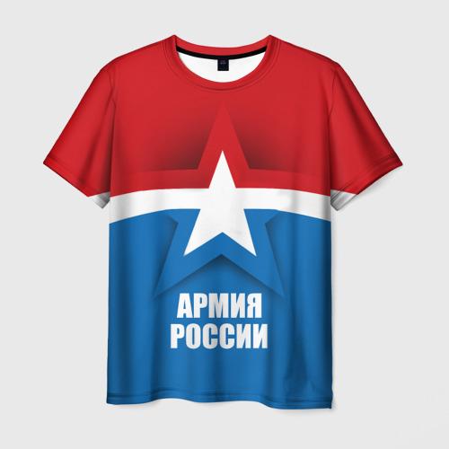 Мужская футболка 3D Армия России