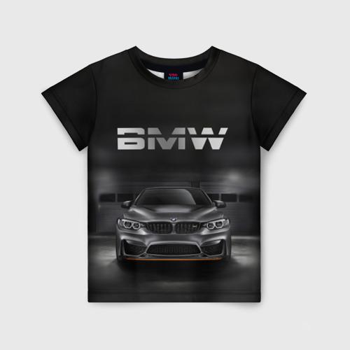Детская футболка 3D BMW серебро