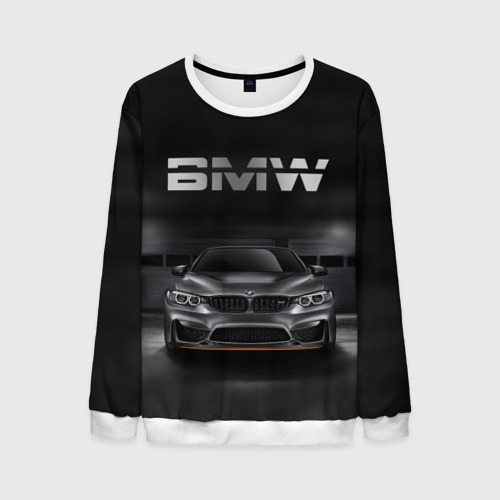Мужской свитшот 3D BMW серебро