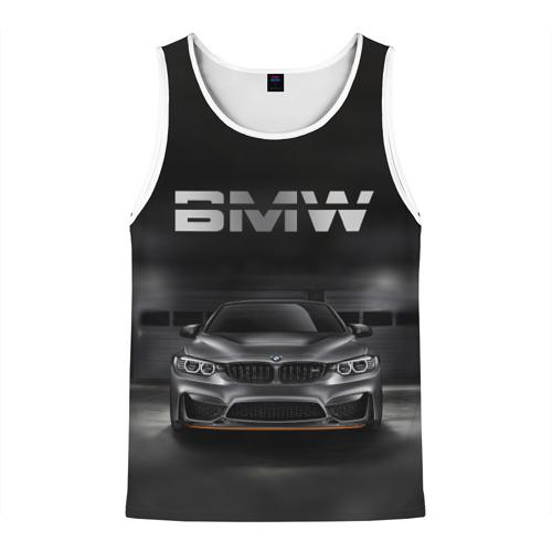 Мужская майка 3D BMW серебро