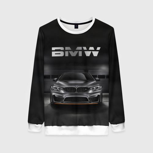 Женский свитшот 3D BMW серебро
