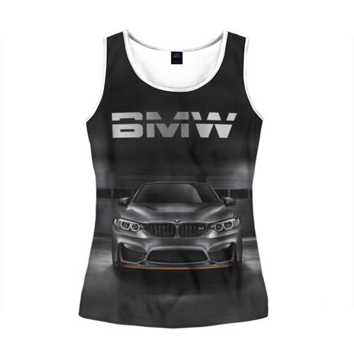 Женская майка 3D BMW серебро