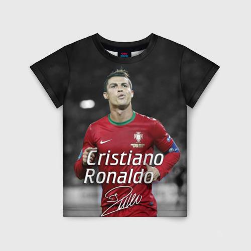 Детская футболка 3D Криштиану Роналду