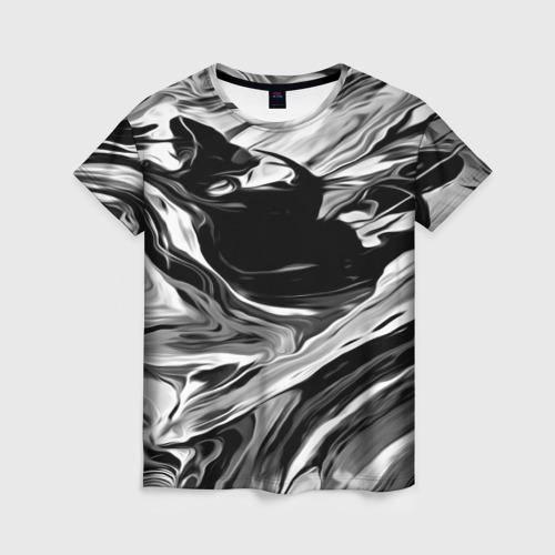 Женская футболка 3D Серые краски