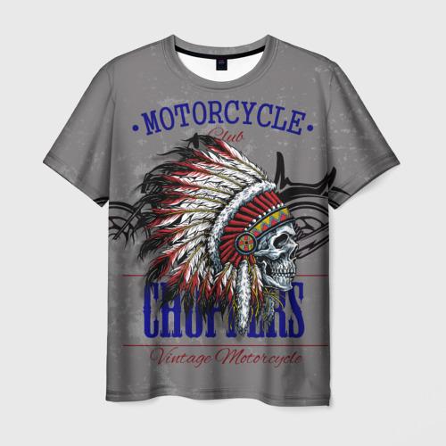 Мужская футболка 3D Мотоцикл-1